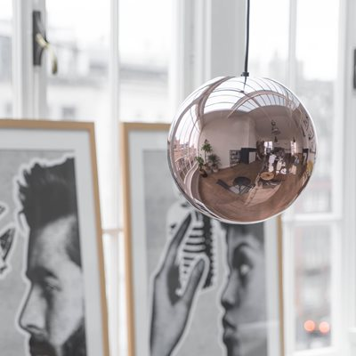 COPPER GLAZED BALL PENDANT LIGHT