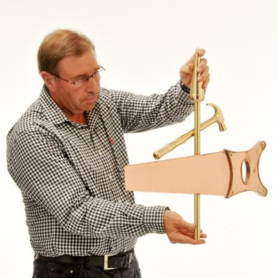 COPPER HAMMER & SAW 3D WEATHERVANE