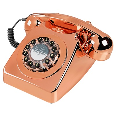 RETRO TELEPHONE 746 in Brushed Copper