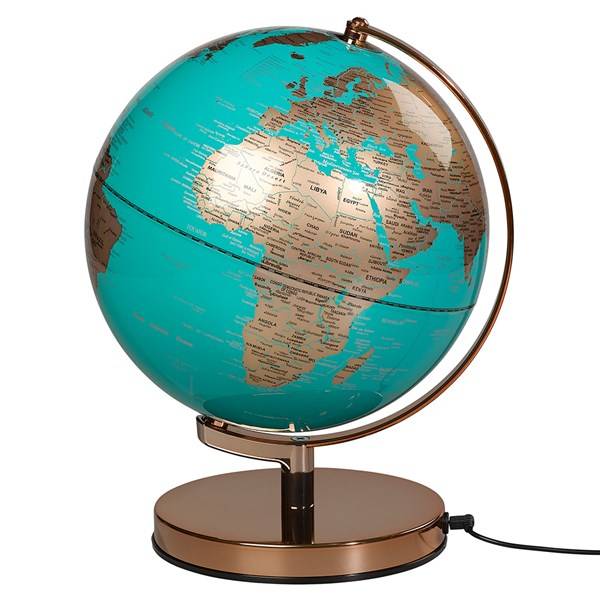 USB and Mains Powered Office Globe Lamp