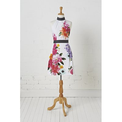 CORA KITCHEN APRON in Floral Design