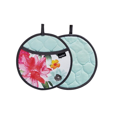 CORA KITCHEN 2PC POT HOLDER in Floral Design