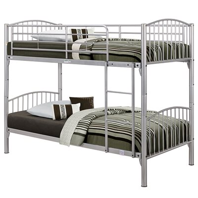 CORFU KIDS BUNK BED FRAME in Silver By Birlea