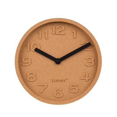 ZUIVER CORK WALL CLOCK with Moulded Numbers