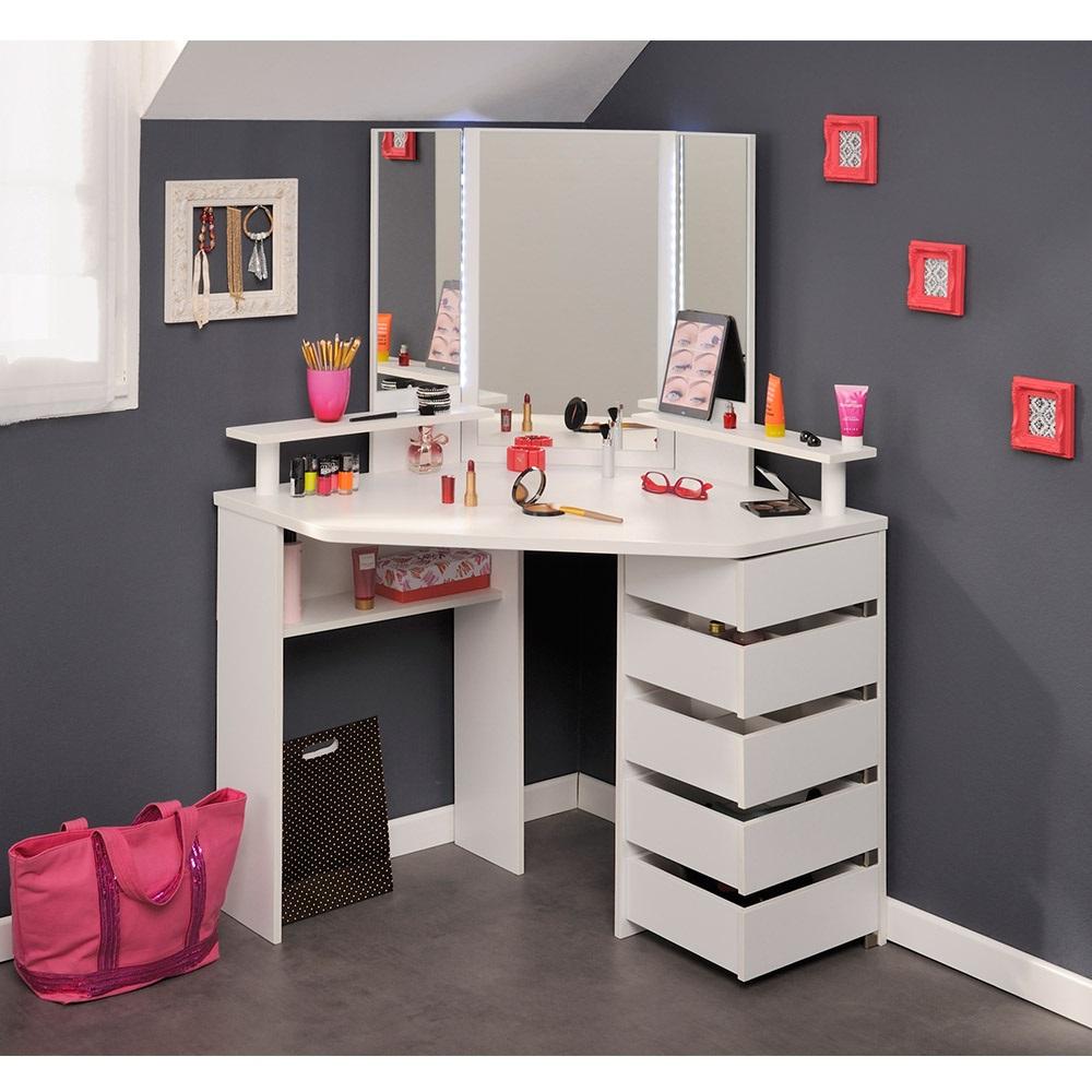 Corner Beauty Bar With Mirror For Girls Jpg