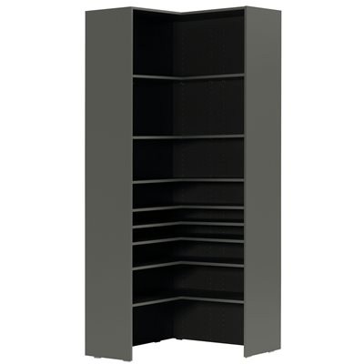 LORI TALL CORNER BOOKCASE in Graphite