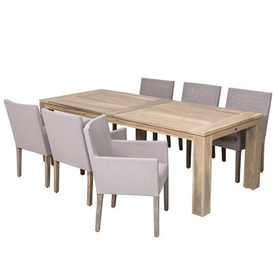 CORONA OUTDOOR DINING SET in Teak