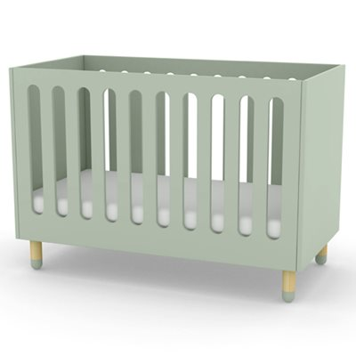 FLEXA PLAY ADJUSTABLE BABY AND TODDLER COT BED in Mint Green