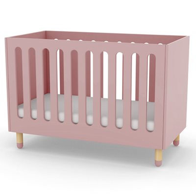 FLEXA PLAY ADJUSTABLE BABY & TODDLER COT BED in Rose