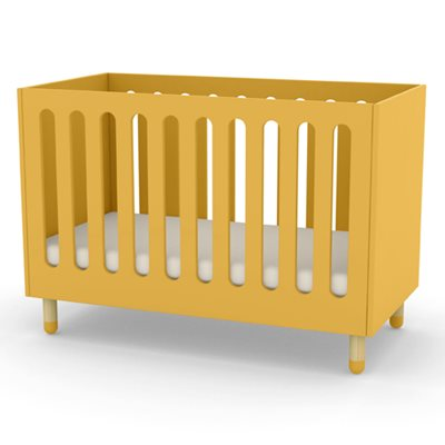FLEXA PLAY ADJUSTABLE BABY AND TODDLER COT BED in Yellow