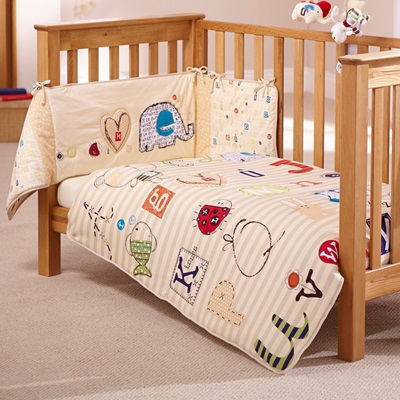 COT QUILT AND BUMPER BEDDING SET in ABC Design