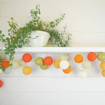 Cable & Cotton Tangerine Dream Cotton Ball Lights