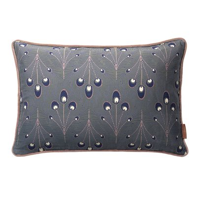 Cozy Living 60x40cm Peacock Feather Print Cotton Cushion
