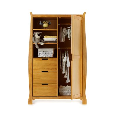 STAMFORD DOUBLE WARDROBE in Country Pine by Obaby