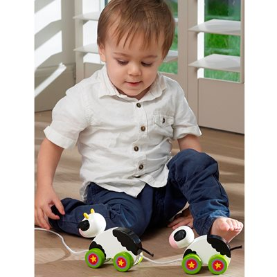 COW & BABY PULL ALONG TOY