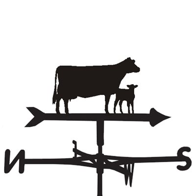 WEATHERVANE in Cow & Calf Design