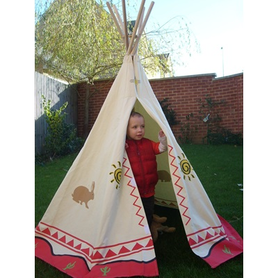CHILDREN'S WIGWAM OUTDOOR PLAY TENT by Garden Games