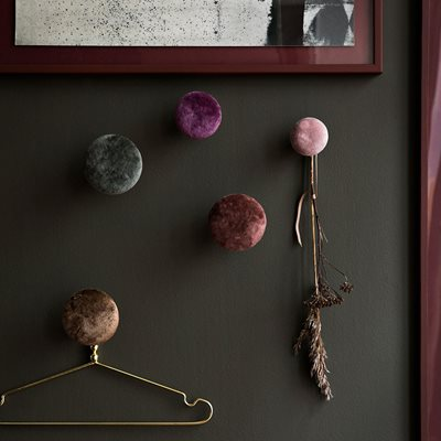 Cozy Living Helene Velvet Wall Hook in Boysenberry