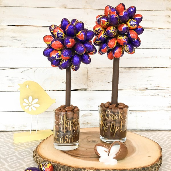 Personalised Cadburys Creme Egg Chocolate Sweet Tree