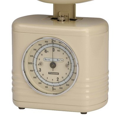 ... Cream Vintage Kitchen Food Weighing Scales Guage