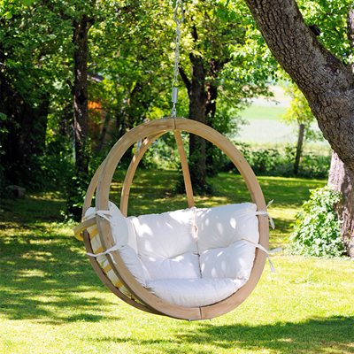 Globo Garden Hanging Chair in Natura Cream