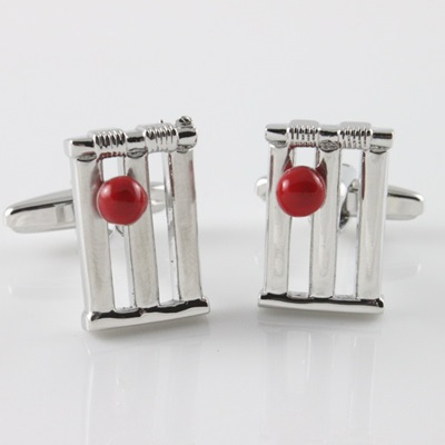 Cricket Stump Cufflinks in Gift Box