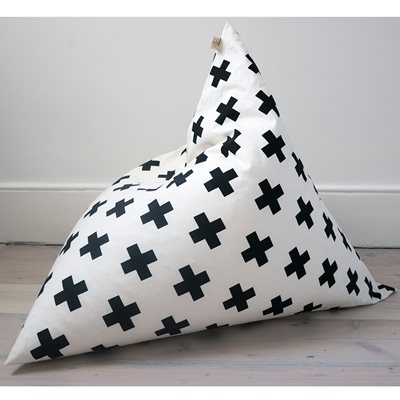 WILDFIRE KIDS PYRAMID BEAN BAG in Cross Design
