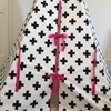 Monochrome Tipi with Pink Tie Detail
