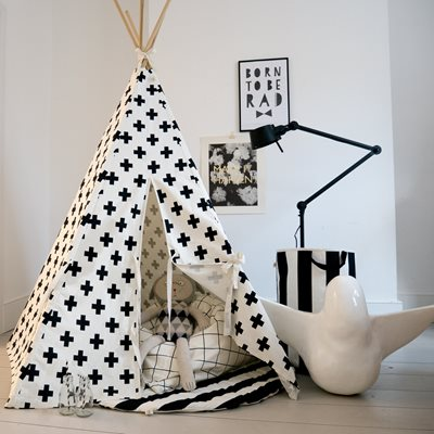 WILDFIRE KIDS TEEPEE in Crosses with White Trim