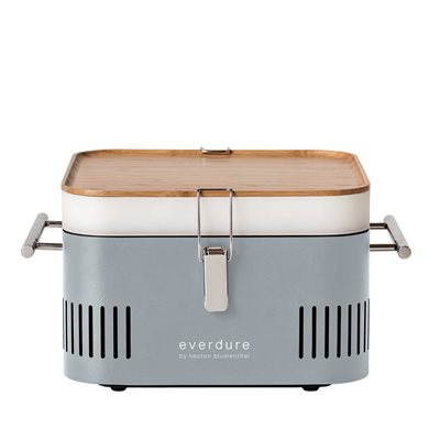 EVERDURE BY HESTON BLUMENTHAL CUBE PORTABLE CHARCOAL BBQ in Stone