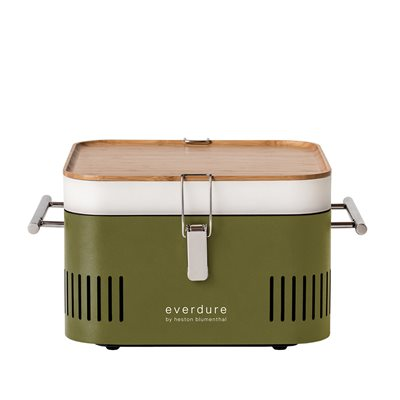 EVERDURE BY HESTON BLUMENTHAL CUBE PORTABLE CHARCOAL BBQ in Khaki