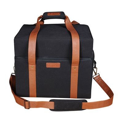 CUBE PORTABLE BBQ CARRY BAG with Leather Straps
