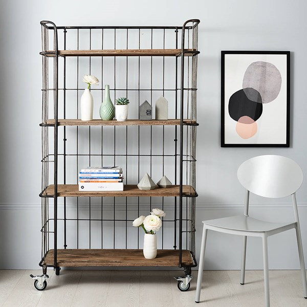 Industrial Storage Trolley with Four Shelves