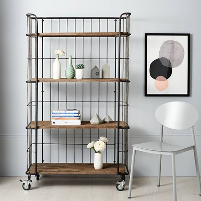 GIRO INDUSTRIAL TROLLEY STORAGE with 4 Shelves by Be Pure Home