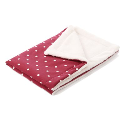 CUDDLE SOFT PET BLANKET in Berry Dotty by Hugo & Hennie