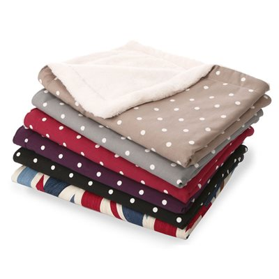 CUDDLE SOFT PET BLANKET in Charcoal Dotty by Hugo & Hennie