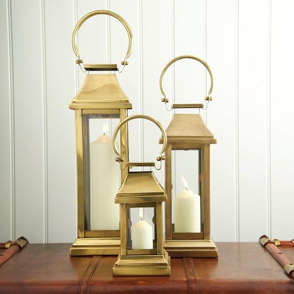 Steel Metal Gold Candle Church Lantern