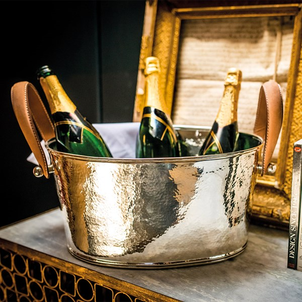 Culinary Concepts Champagne Bath with Leather Handles