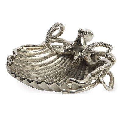 CULINARY CONCEPTS LUXURY SERVING DISH in Octopus and Sea Shell Design