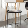 Modern Black Glass Top Side Table