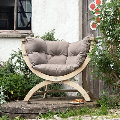 Siena Uno Garden Chair in Weatherproof Taupe
