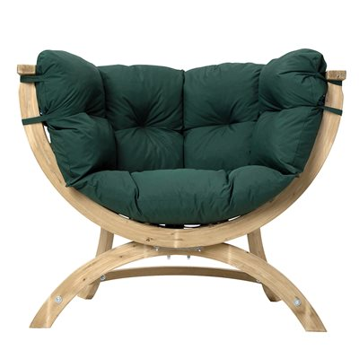 Siena Uno Garden Chair in Weatherproof Green