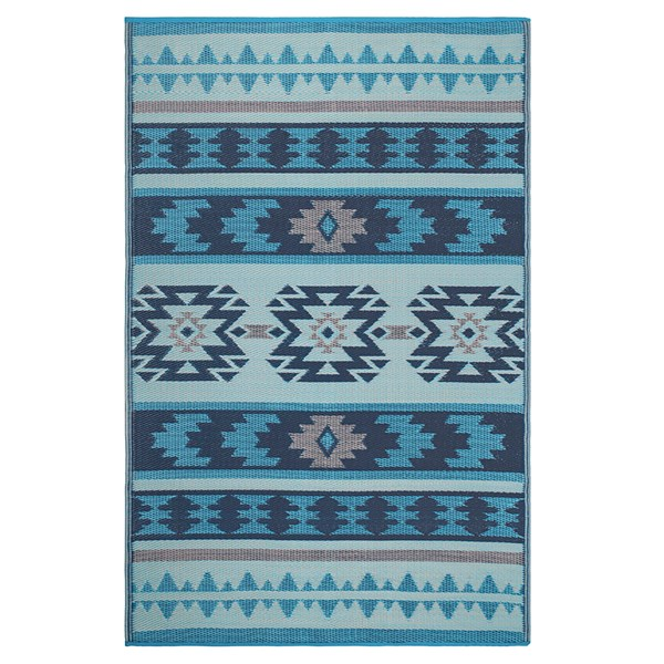 Fab Hab Cancun Outdoor Rug in Blue