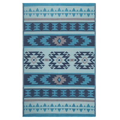 Fab Hab Cusco Outdoor Rug in Blue