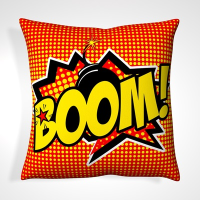 CUSHION in Retro Boom Design