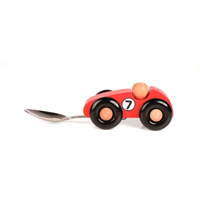 WOODEN RACING CAR Childrens Spoon