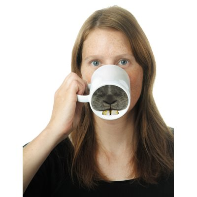BUNNY-NOSE Porcelain Mug by Donkey Products