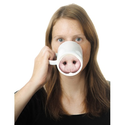PIG-NOSE Porcelain Mug by Donkey Products