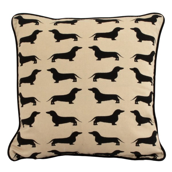 Unique & Quirky Dachshund Printed Scatter Cushion