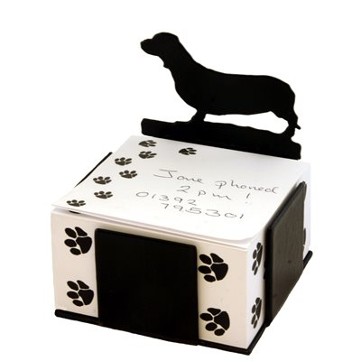 DACHSHUND DOG NOTE BLOCK PAPER HOLDER by The Profiles Range